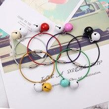 Перекрестная граница для девочек Колокольчик для ключей для автомобиля стальное проволочное кольцо из нержавеющей стали проволочная веревка сумка пластиковая, со стальной проволокой кольцо цветная цепочка для ключей
