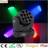 12x12W RGBW 4in1 Beam LED Moving Head Light DMX512 LED Wash Linear Beam With Excellent Pragrams LED Spot DJ Stage Effect Lights