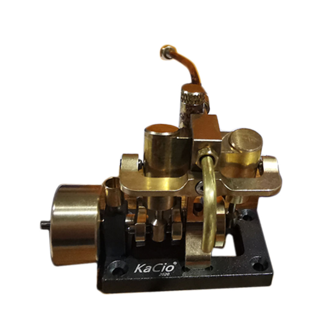 Surwish 1 Pcs Mini Inline Double-Cylinder Swing Steam Engine Model For Within 40cm Retro Boat Models (Without Boiler) New Hot