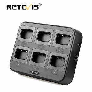Image 1 - Зарядное устройство Retevis RTC777, шестистороннее зарядное устройство с многоцелевой защитой для Baofeng 888S, зарядное устройство для рации Retevis H777/H777 Plus