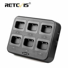 Retevis rtc777 carregador de seis vias proteção de segurança múltipla para baofeng 888 s BF 888S retevis h777/h777 além de carregadores walkie talkie