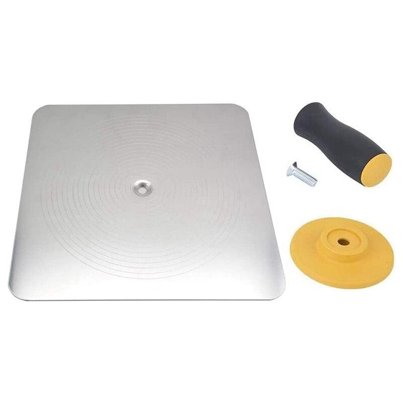 Lightweight Premium Aluminum Plate Plastering Hawk Plastering Hand Board with Comfort Grip Handle 12 x 12-Inch,2 Pack