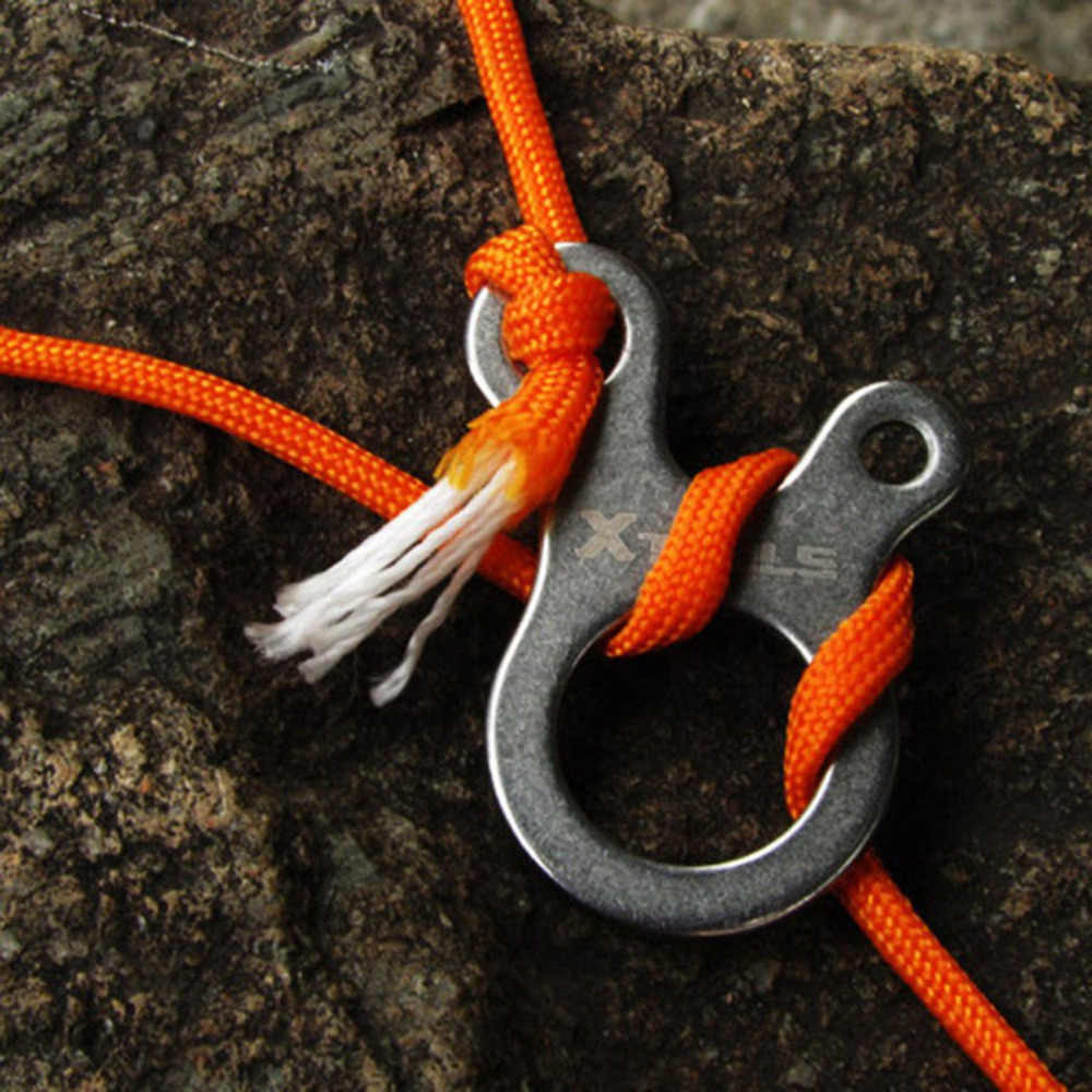 Stainless Steel Quick Knot Tent Wind Rope Buckle 3 hole Antislip Camping Hiking Tightening Hook Wind Rope Buckles