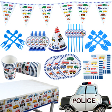 Cake Topper Tablecloth Napkins Shower-Decorations Car-Party-Supplies Paper-Cup Wedding