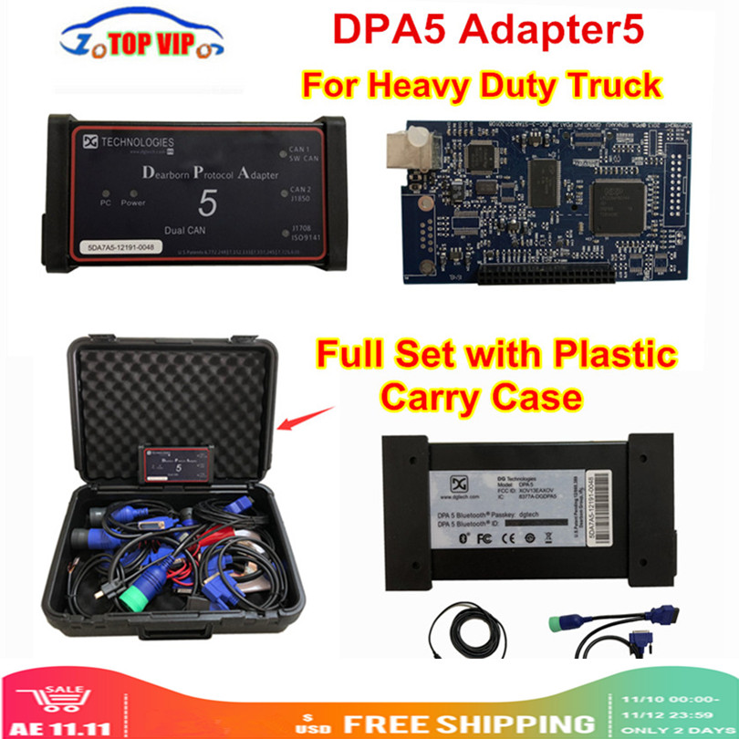 Varredor resistente dpa5 do caminhão do protocolo adapter5 de dearborn sem bluetooth ferramenta diagnóstica dpa 5 melhor do que dhl rápido