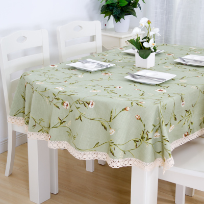 Long Oval Tablecloth Tablecloth, Fabric Cotton And Linen Small Fresh Home Oval Coffee Table Cloth