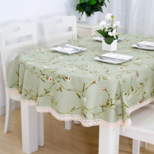 Long oval tablecloth tablecloth, fabric cotton and linen small fresh home coffee table cloth