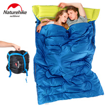 Naturehike Outdoor Camping Sleeping Bag Envelope Type Double Person Detachable Pure Cotton Single Sleeping Bags Camping Travel