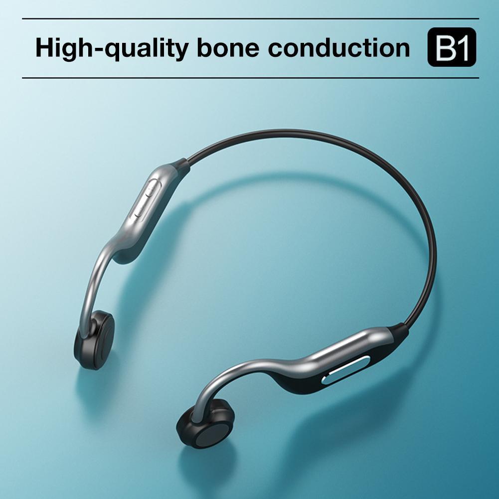 Беспроводные наушники Bone Conduction Bluetooth 5,0, стерео наушники с шумоподавлением, Спортивная гарнитура с защитой от пота, с микрофоном, sd картой