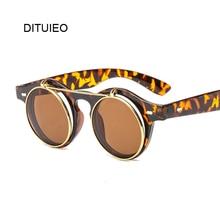 New Retro Steampunk Sunglasses Men Women Round Designer Metal Steam Punk