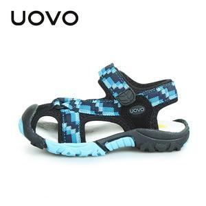 Image 5 - UOVO 2020 מותג קיץ חוף סנדלי בנים ובנות נעליים לנשימה מזדמן ספורט סנדלי פעוט #25 35