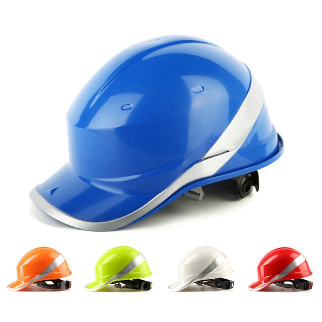 Hard Hat Safety Helmet Worker Construction Site Protective Cap Ventilate Reflective Stripe Safety Helmet With Adjustable Strap