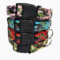 Collar Pet Dog Adjustable Neck Strap Camouflage Printing Nylon Dog Collar Durable Pet Collar For Puppy Middle Dog Colla