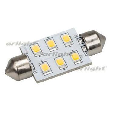 019428 Auto Lamp ARL-F37-6E Warm White (10-30V 6 LED 2835 ARLIGHT 1-pc