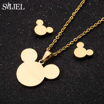 SMJEL Stainless Steel Necklaces for Kids Jewelry Mini Animal Rabbit Necklace collier femme 2020 Wholesale