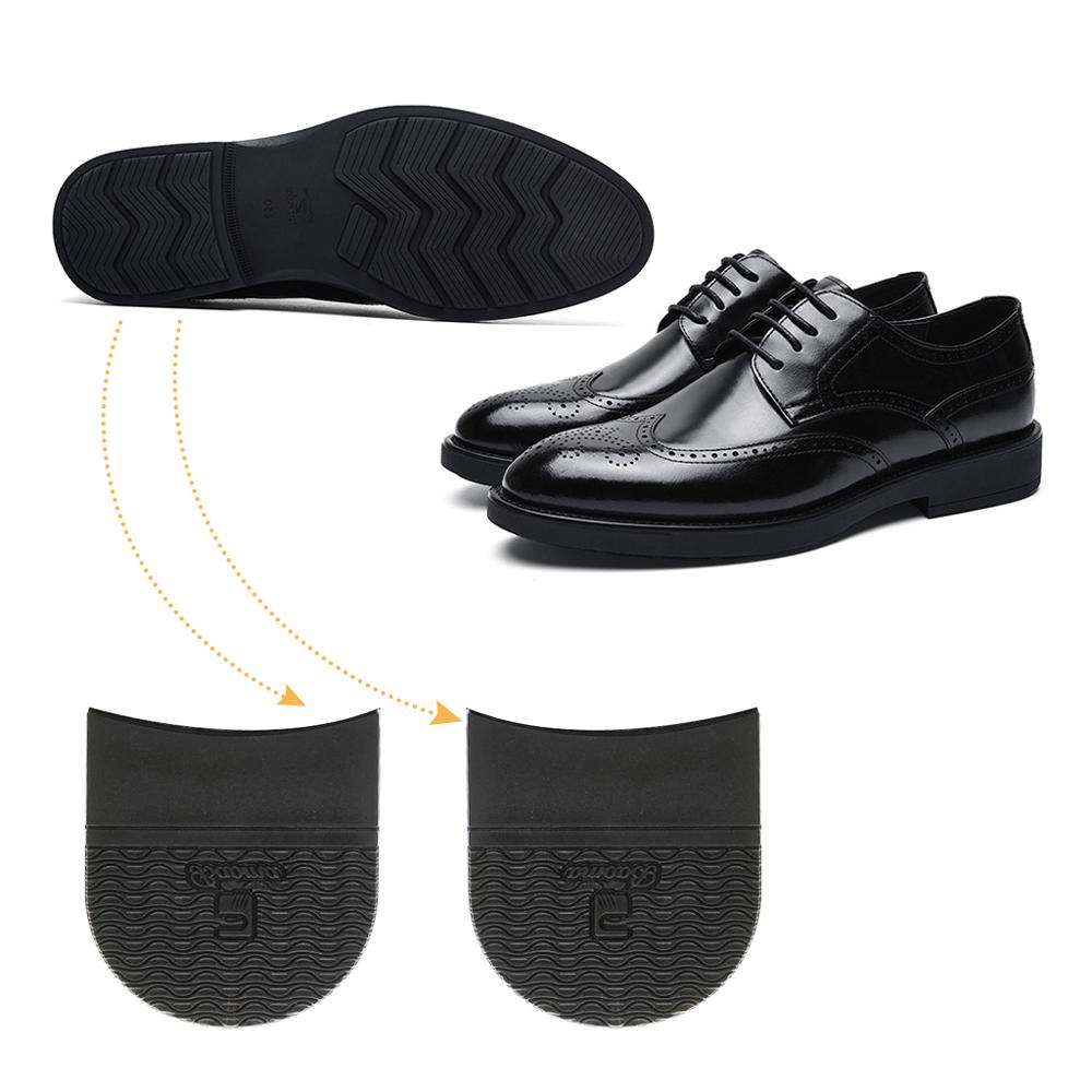One Pair Rubber Glue Heels On Sole Anti Slip Shoe Repair DIY Replacement Black Thickness 6.5mm Shoe Accessories