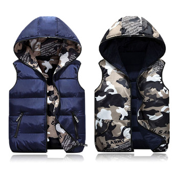 Vests Children Hoodies Warm Baby Girls Outerwear Coats Kids Vest Boys Hooded Jackets Autumn Winter Down Cotton Waistcoats Vest 2020 new boys jackets parka baby outerwear childen winter jackets for boys down jackets coats warm kids baby thick cotton down