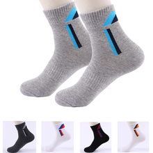 20PCS=10Pairs Combed Cotton Mens Socks 2019 New Casual Breathable Active High Quality Men meias Stripe Long Sock EU38-44