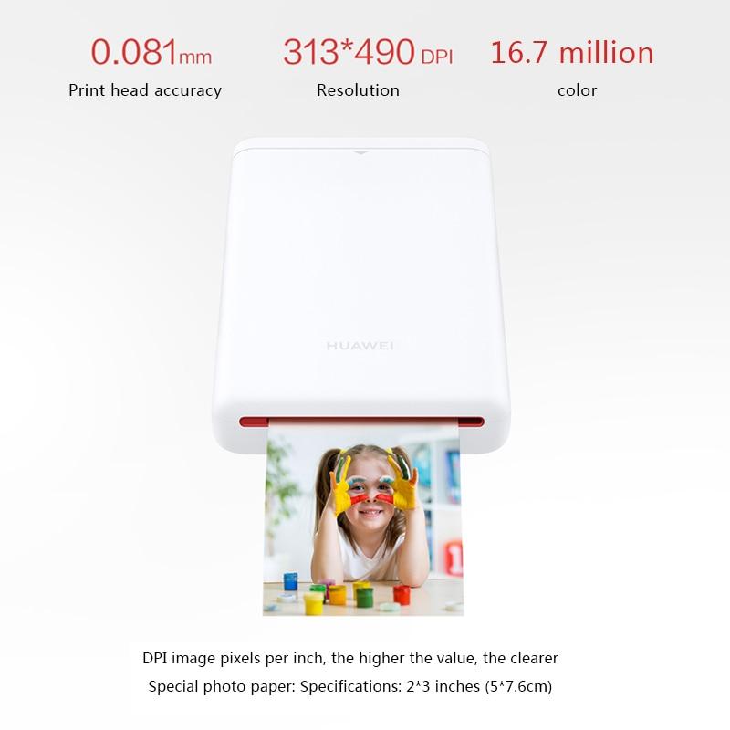 Huawei оригинальный AR портативный принтер фото карманный мини принтер DIY фотопринтеры для смартфонов Bluetooth 4,1 300 точек/дюйм принтер - 3
