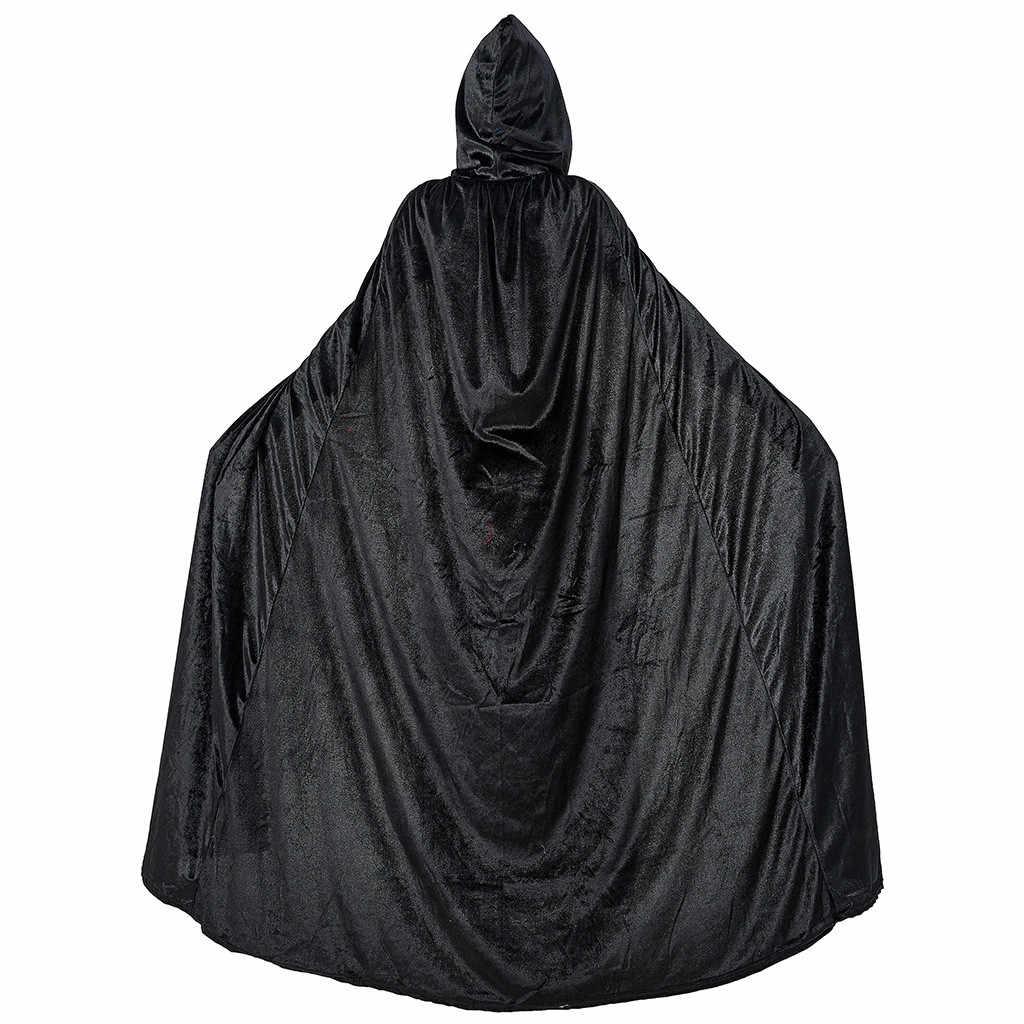 Женская накидка с капюшоном, Женская Косплей на Хэллоуин, Рождество, модное винтажное готическое платье среднего возраста, плащ, большие размеры