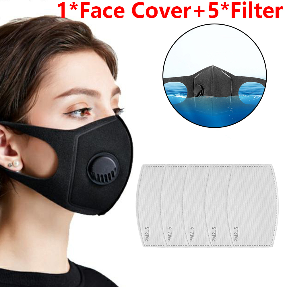 Washable Anti-Fog Haze Face Mouth Cover Protetion Filter Respirator-Breathable Protective Masks Mascarilla