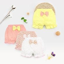 Baby Underwear Girls Shorts Bow Polka Dots Striped Shorts  Newborn Baby Bread Pants Summer Shorts 0-2Y