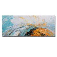 100% Hand Painted Gold Line Oil Painting Home Decoration Modern Abstract Acrylic Line Drawing Painting Living Room