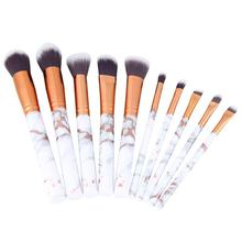 10 шт мрамор набор кистей для макияжа кисть нанесения основы