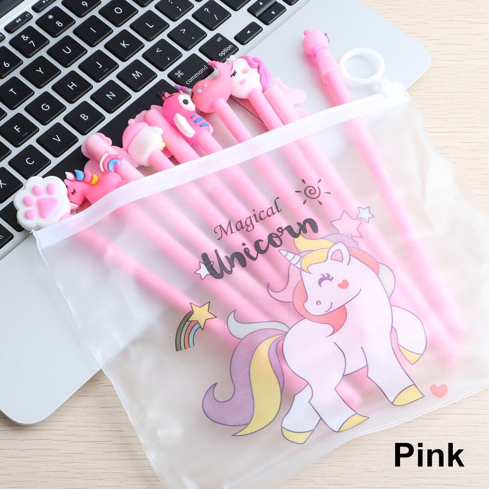 10Pcs/Set Gel Pen Unicorn Pen Stationery Kawaii School Supplies Gel Ink Pen School Stationery Office Suppliers Pen Kids Gifts 3