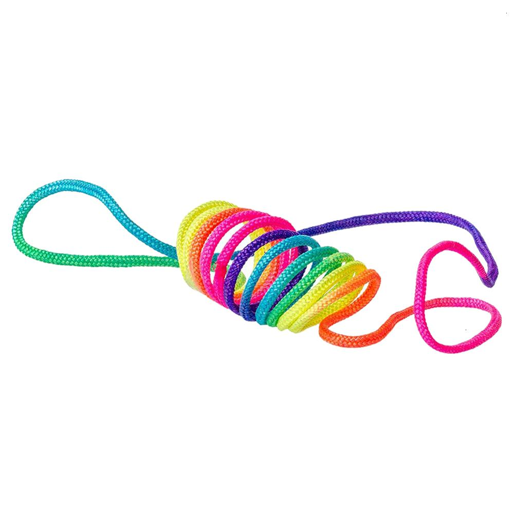 Rainbow Rope Finger Twist String Game Children's Parents Interactive Game Puzzle Fun Colourful Rainbow Coloured Rope Chain Party