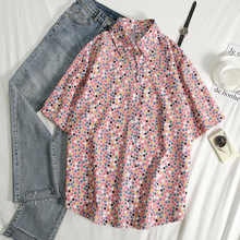 2020 Brand Summer Shirt Women Loose Plus Size Blouse Female Short Sleeve Blouses Ladies Flannel Casual Shirt Women Tops Blusas