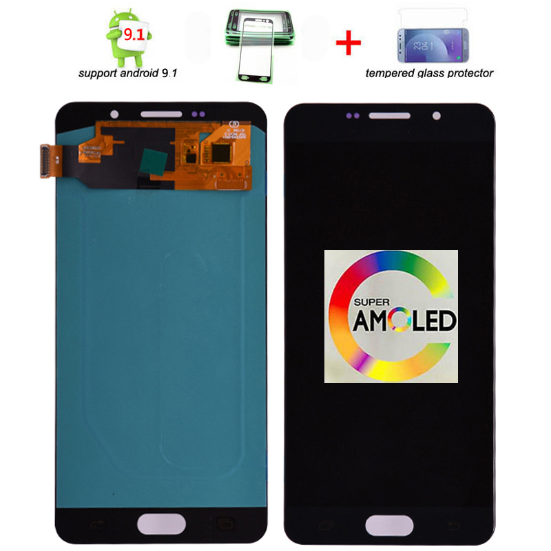 Original Super Amoled lcd For Samsung Galaxy A7 2016 A710 A710F A710M A710Y LCD Display with Touch Screen Digitizer Assembly