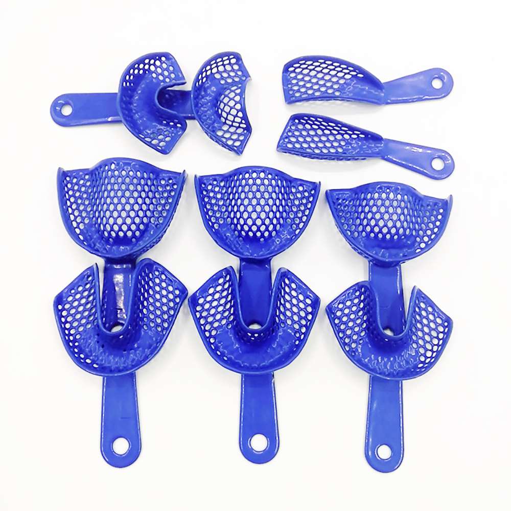 10pcs Dental Impression Tray Plastic-Steel Teeth Holders Dentist Instrument Dentistry Materials Tools