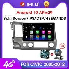 Jmcq android 9.0 2 + 32gb dsp rádio do carro multimidia jogador de vídeo navegação gps carro estéreo para honda civic 2005-2012 unidade de cabeça 2din