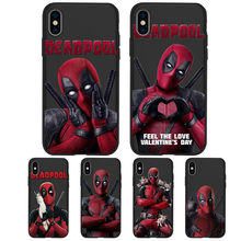 Pour iPhone X XR XS Max 5 5S SE 6 6S 7 8 One Plus 5 5T 7 Pro Oneplus 6 6tphone housse téléphone Funda Coque Etui Marvel Deadpool(China)