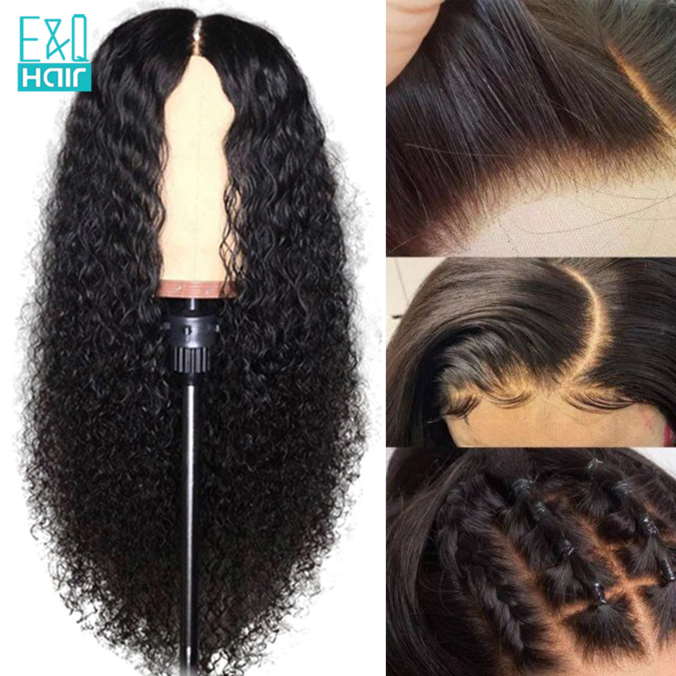 150% 13x6 Lace Front Human Hair Wigs Brazilian Remy Transparent Jeery Curly Lace Front Wig PrePlucked With Baby Hair Black Woman