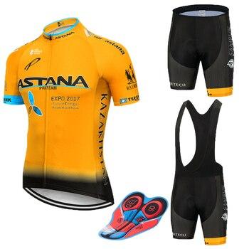 Equipo astanas ciclismo Jersey 2019 para hombre Camiseta corta ropa ciclismo hombre...