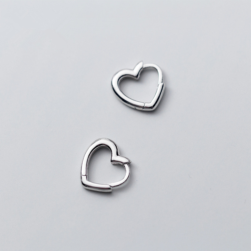 Piercing Heart Stud Earrings for Women Femme Wedding Party Femme pendientes Brincos eh495