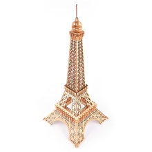 Baby Kids Puzzle Toy Eiffel Tower Woodcraft Construction Kit DIY 3D Wooden Puzzle Assembly Toy Gift for Children Adult Toy Model(China)