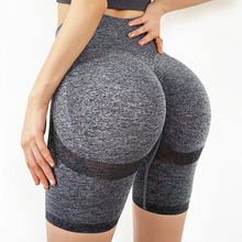 Seamless Yoga Shorts High Waist Compression Workout Shorts Women Sexy Booty Tummy Control Gym Leggings Summer Running Shorts