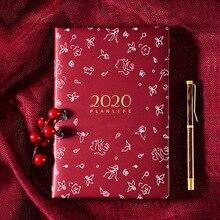 2020 Planner Organizer A5 pamiętnik i dziennik Kawaii tygodniowy miesięczny zeszyt podróże osobiste biznes notatnik papiernicze