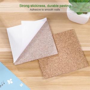 Image 2 - 80pcs 95x95mm Self Adhesive Square Cork Sheets for DIY Coasters Cork Tiles Cork Mat