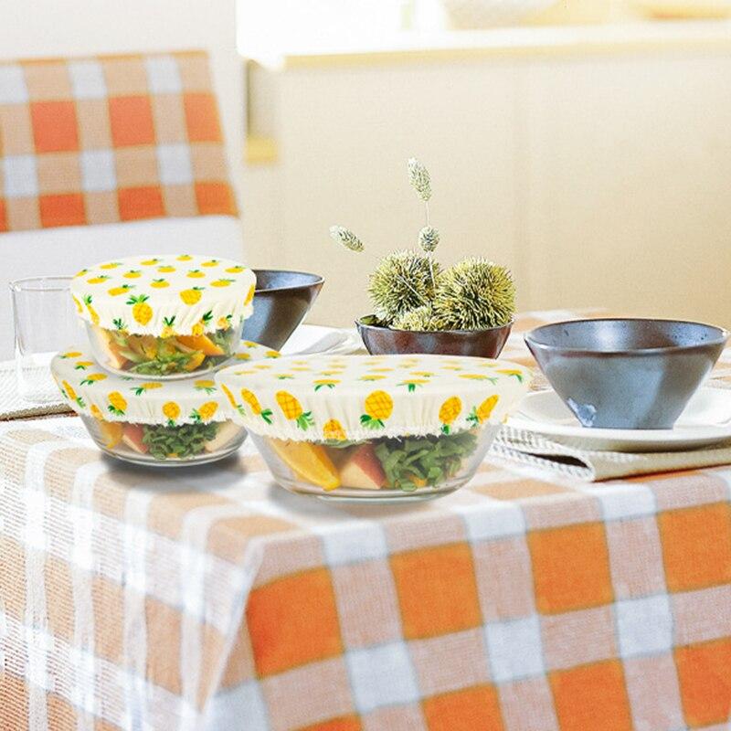 3 шт./компл. держать Еда миска для свежей еды крышка Кухня сохраняющий свежесть ткань моющиеся Пылезащитный чехол многоразовые экологически...