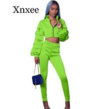 autumn sexy sport wear Two Piece Set Women Halter Bra Crop Top and Pencil Pants Suits Streetwear Clubwear Matching Set Outfits streetwear two piece set women s costumes contrast color hooded crop top and skinny shorts female suits autumn sweatsuits zogaa