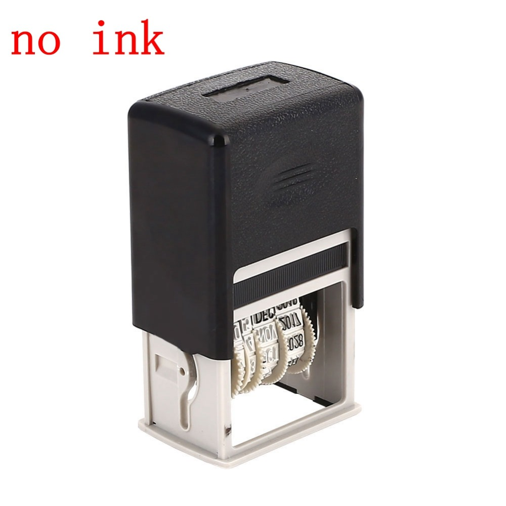 DIY Handle Account Date Stamps Stamping Mud Set Mini Self-Inking Stamps For Scrapbooking Office Escolar Supplies Emboss