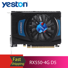 Yeston RX550-4G D5 Graphics Card Gaming Graphic Card with 4GB GDDR5 128Bit Memory 1183MHz/6000MHz DP+HDMI+DVI-D Output Ports