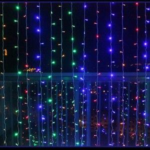 Image 5 - 2x2/3x3 Led Icicle Led 커튼 요정 문자열 빛 요정 빛 Led 크리스마스 빛 갈 랜드 결혼식 홈 창 파티 장식