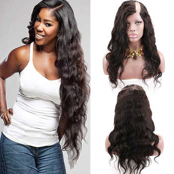 Eseewigs Body Wave U Part Wig Human Hair Brazilian Remy Hair Wigs For Black Women Left 1x4 Inch Natural Color With Clips Combs - DISCOUNT ITEM  44% OFF All Category