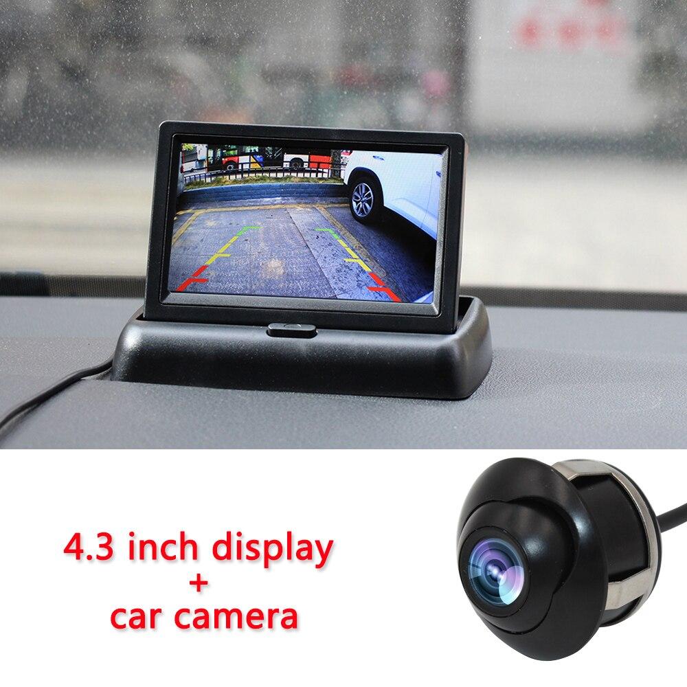 Smartour 4,3-дюймовый складной автомобильный монитор TFT ЖК-дисплей камеры заднего вида, система парковки для автомобиля