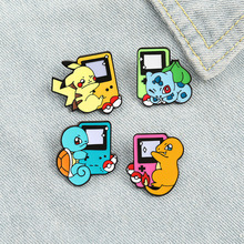 Pins Metal Brooches Backpack Jewelry Badges Game-Console-Brooch Lapel-Pin Cartoon Women's